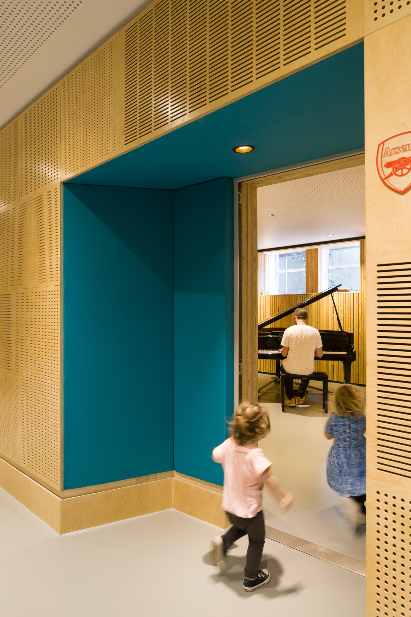 Close up of the entrance to the piano music room.