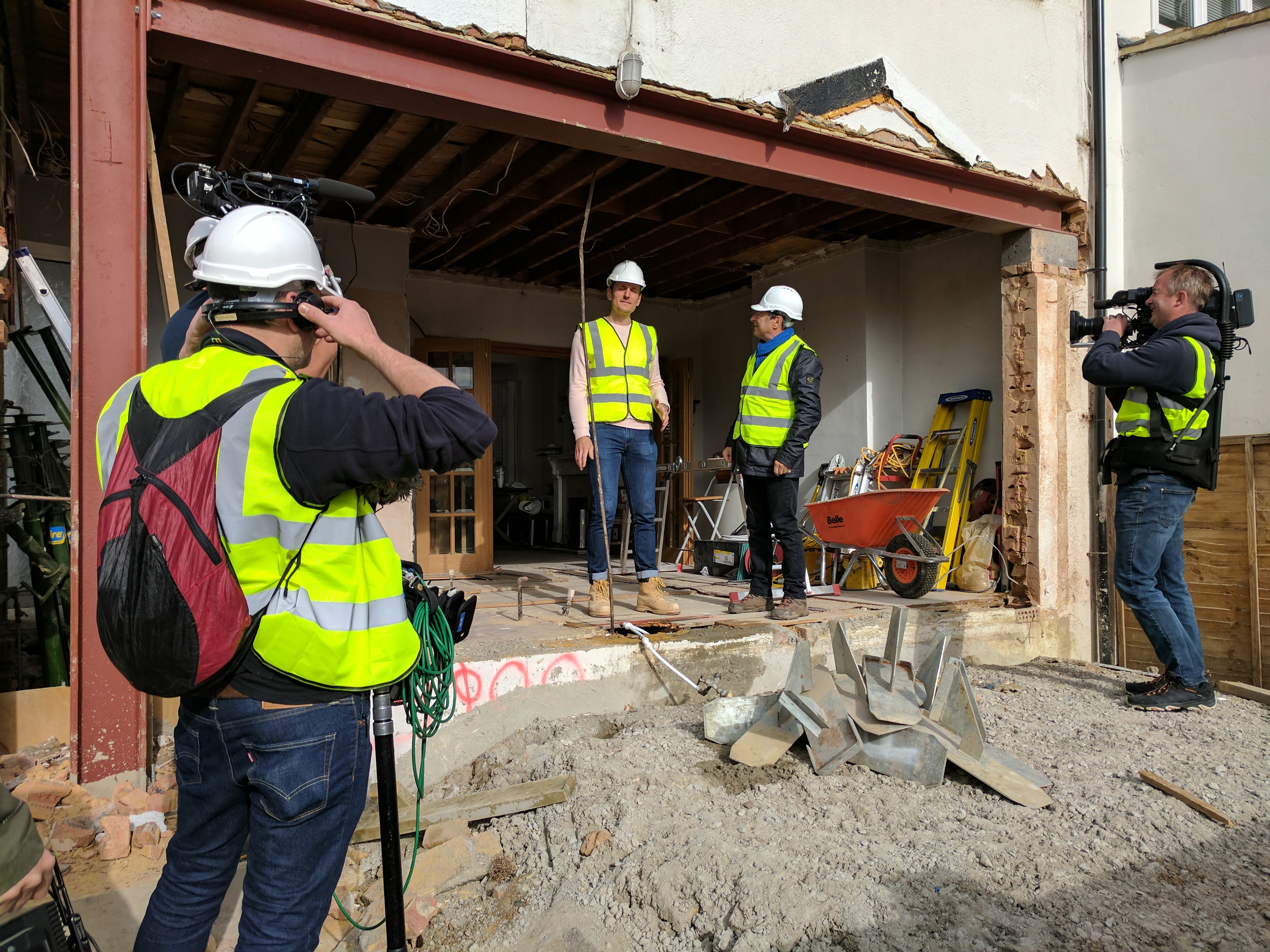 The process of renovating and filming on the Love Your Home and Garden show on ITV.