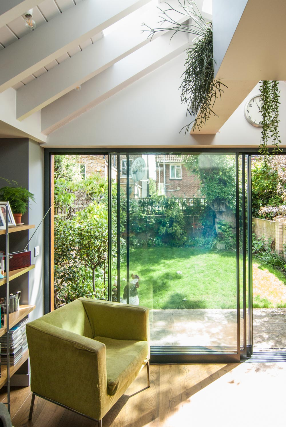 Beautiful view of the reading area against sliding doors leading onto the garden.